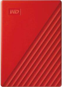 WD 4TB My Passport Portable External Hard Drive, Red - WDBPKJ0040BRD-WESN