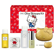 [DHC HELLO KITTY] Olive Cleansing Oil Skincare Kit 6pc Travel Size JAPAN NEW