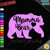 MOMMA MAMA BEAR Version 4 Cute Car Window Easy PEEL N' STICK DECAL VINYL STICKER