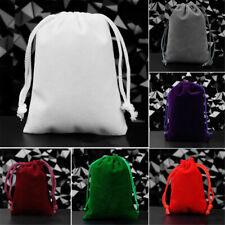 5pcs Small Gift Bag Flocking Cloth Drawstring Bag Jewelry Ring Pouch Wedding
