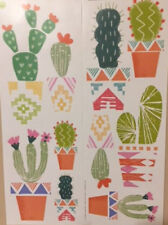 CACTUS PLANTS wall stickers 10 big decals south western room decor potted cacti