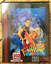 SOFTBOX + INSERT ART OF FIGHTING 1 SNK NEO GEO NTSC US USA COVER SOFT BOX AOF I