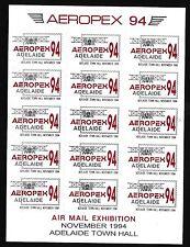 76688) correo aéreo, klbg australia aeropex 94 con 15 sellos