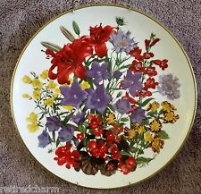 ��1978 Franklin Porcelain Flowers of the Year Plate Collecton July by Wedgwood��