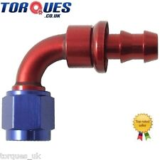 AN -4 (AN4 4AN) 90 Degree Push-On Fuel Hose Fitting