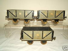 "VINTAGE (42mm) 1.625""  3 X  HAND MADE (L.N.E.) WAGON'S"