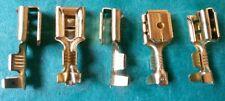 "5 Electrical 2 into 1 Piggyback Connectors AMP 6.3mm 1/4"" Lucar Faston Crimp VW"