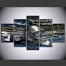 5 Panel Dallas Cowboys Canvas Prints Painting Wall Art NFL Sport Home Decor
