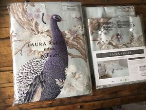 Laura Ashley Belvedere Duck Egg King Size Quilt & 2 Pillow Cases BNWT