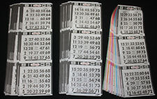 BINGO PAPER Cards sheets 3 on 10 Black Bdr 50 packs FREE SHIP
