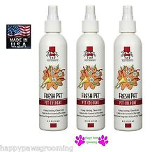 3 - Grooming FRESH PET Dog Puppy Cat Horse Cologne&Deodorant MIST Pump Spray 8oz