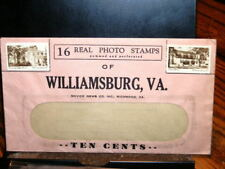 #7300,Williamsburg VA Real Photo Stamps Sheet & Cover@1940's,Seldom Seen,
