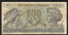 1967 500 Lire Italy Old Vintage Paper Money Banknote Currency Bill Note F