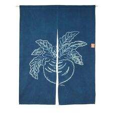 "Japanese Noren Tapestry Curtain Indigo Shibori Turnip 46""L Cotton/ Made in Japan"