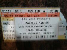 Marilyn Manson Concert Ticket Stub 2004 Detroit