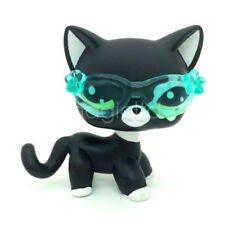 Littlest Pet Shop LPS Toys Short Hair Cat Blythe Black #2249 & Glasses