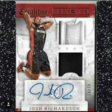 ■ JOSH RICHARDSON Excalibur Philadelphia Sixers AUTO JERSEY PATCH/SHOE #'/75 RC