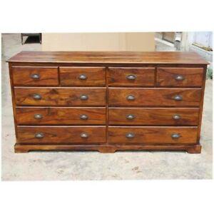 Cromer Indian Solid Wood 10 Drawer Large Bedroom Dresser (MADE TO ORDER)