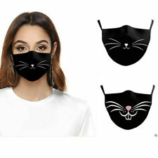 Reusable Washable Cat Whiskers Face Mask 3 3D Cotton