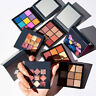 9 Color Huda Beauty Obsessions Eyeshadow Palette Warm Brown Electric Sapphire