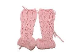 crochet baby legging with booties, crochet legging, legging booties,pink legging