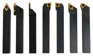 Drehmeissel Drehstahl 8x8mm 7tlg. Set Satz inkl. Wendeplatten AUSWAHL