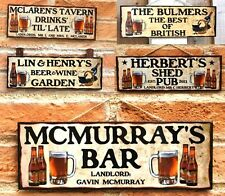 PERSONALISED WOODEN SIGN GARDEN SHED PUB HOME BAR DAD BIRTHDAY GIFT MAN CAVE