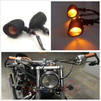 Pair DC12V Amber Bullet Motorcycle Turn Signal Indicator Light Motos Accessories