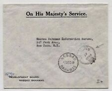 BH98 1949 BAHAMAS Nassau OHMS Official Cover Paid Stamp