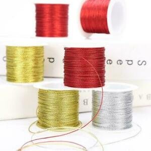 20 Meters 1mm Rope Gold/Silver/Red Cord Thread Cord Ribbon RopeLine Strap K5V5