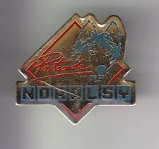 RARE PINS PIN'S .. SPORT HIVER SKI CHIEN DOG HUSKY TRAINEAU POLKA NORALSY  ~C7