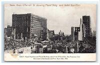 Postcard Flood Bldg & Hotel Hamilton, San Francisco CA earthquake fire 1906 G11