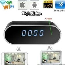 Mini WIFI 1080P Night Vision HD Spy Hidden Camera Clock P2P Motion Detection FT