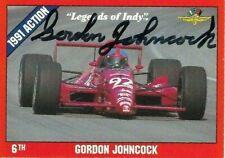 GORDON JOHNCOCK signed  1992 LEGENDS OF INDY #7 card INDY RACING
