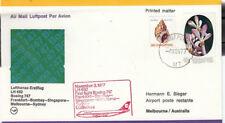 (44477) Singapore Lufthansa Cover Frankfurt Bombay Singapore Melbourne Sydney 77