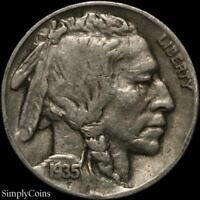 1935 Indian Head Buffalo Nickel ~ Fine ~ US Coin