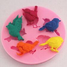 Popular Cute Birds Silicone Fondant Molds SugarCraft Cake Baking Decorating Tool