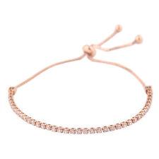 Reino Unido ajustable para mujeres Damas pulsera con dijes Cadena de Diamante de imitación de cristales adornado