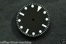 Plain Milsub Watch Dial for ETA 2836 / 2824 Movement White Lume 27mm