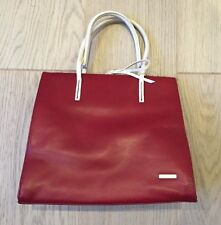 NINE WEST Red White Leather  Handbag - Chic And Rare