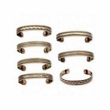 """4 COPPER MAGNETIC CUFF Bracelets Mixed Styles w/ """"Therapy"""" MAGNETS Brass accents"""