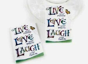 4 Pc. Planar Resin Hair Bow Center WHOLESALE Live Love Laugh 44X31MM