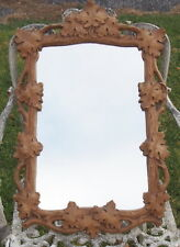 "Vintage Syroco Leaf & Vine Wall Mirror  25""  Hollywood Recency Cottage Eclectic"