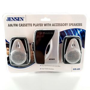 Jensen SCR68S Stereo AM/FM Cassette Player w/ Accessory Speakers New Sealed