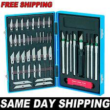 56pc Precision Hobby Knife Set Kit Exacto Knives Blades Craft Razor Scrapbooking
