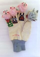 Classic Vintage THE THREE PIGS Hand Finger Glove Puppets Preschool Baby COLLECT