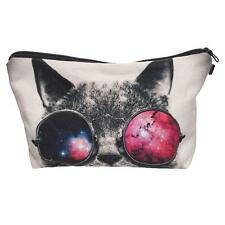 Travel Makeup Cosmetic Organizer Bag Cases Portable Pouch Wearing Glass Cat