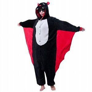 Halloween Bat Onesiee Kigurumi Fancy Dress Costume Pyjamas Sleep wear Bodysuit