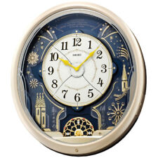 Seiko Wall Clock Melody in Motion 20 Colourful LED Lights Décor 46.8x42.4x10.9cm