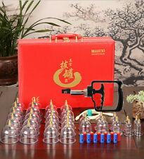30 Cups Chinese Cupping Acupuncture Professional Therapy Massage Vacuum Suction